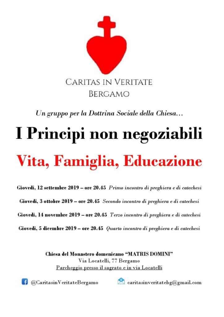 Conferenze sui principi non negoziabili a Bergamo