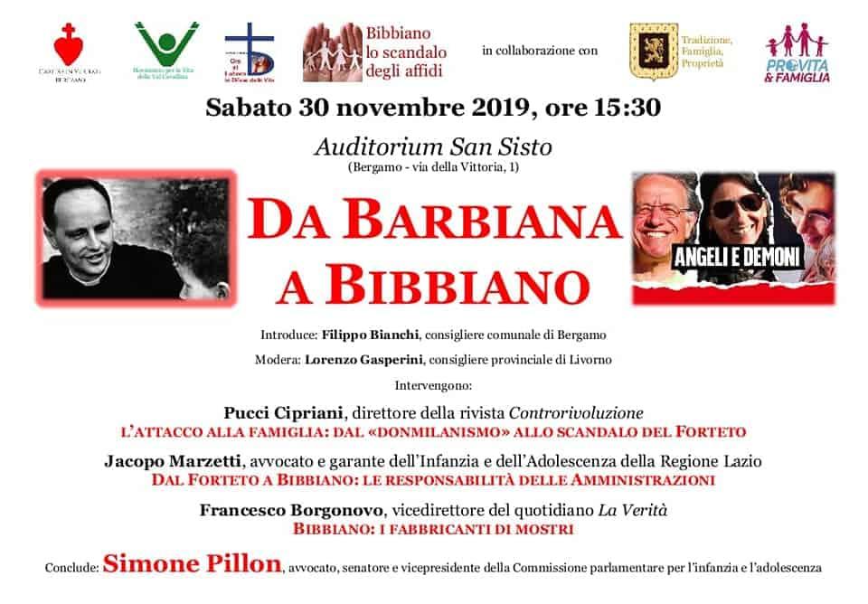Da Barbiana a Bibbiano, conferenza a Bergamo