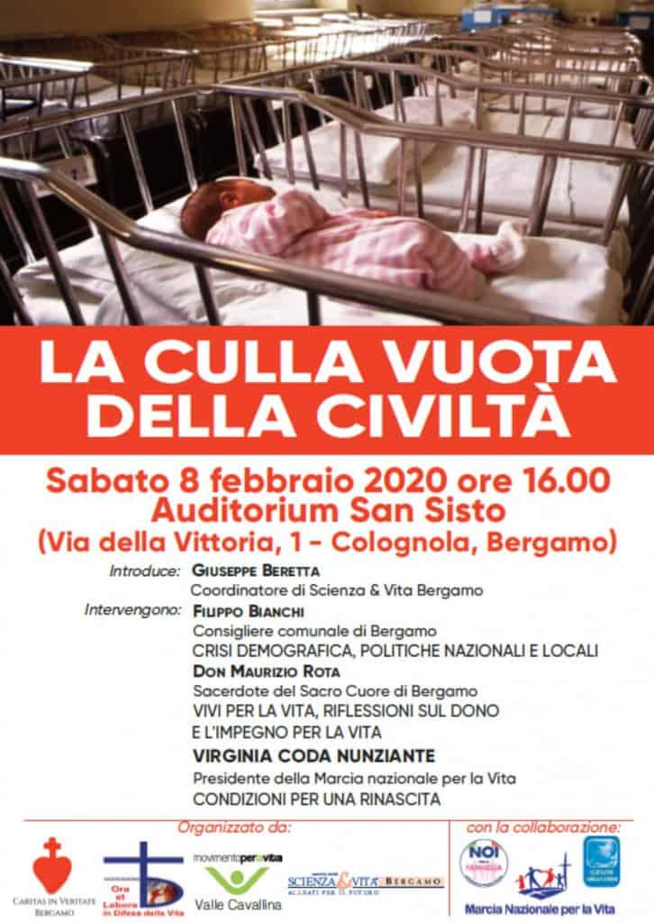 """Annunzio conferenza su """"La culla vuota dell'umanità"""" 8 febbraio - """"Ideologia del gender"""" 22 febbraio."""
